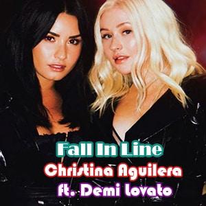 موزیک ویدیو Christina Aguilera - Fall In Line ft. Demi Lovato