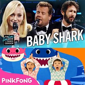 دانلود برنامه جیمز کوردن The Biggest 'Baby Shark' Ever w Sophie Turner & Josh Groban با زیرنویس فارسی