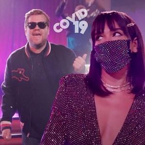 موزیک ویدیو Dua Lipa & James Corden Offer 'New Rules' for Covid-19 Dating با زیرنویس