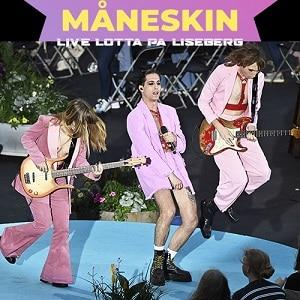 """اجرای زنده Maneskin - """"I Wanna Be Your Slave"""" - Lotta pa Liseberg با زیرنویس"""